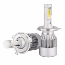 ECAHAYAKU72W COB H7 H1 H4 H3 H11 H13 9005 9006 9004 9007 880 C6 LED Bulb Headlamp Light Car HeadLight Bulbs 6000K lamp(China)