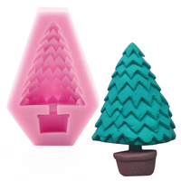 1 Pc ChristmasTrees Shaped Silicone Fondant Mold Chocolate Candy Sugar Fondant Molds Cake Decoration Tools Bakeware
