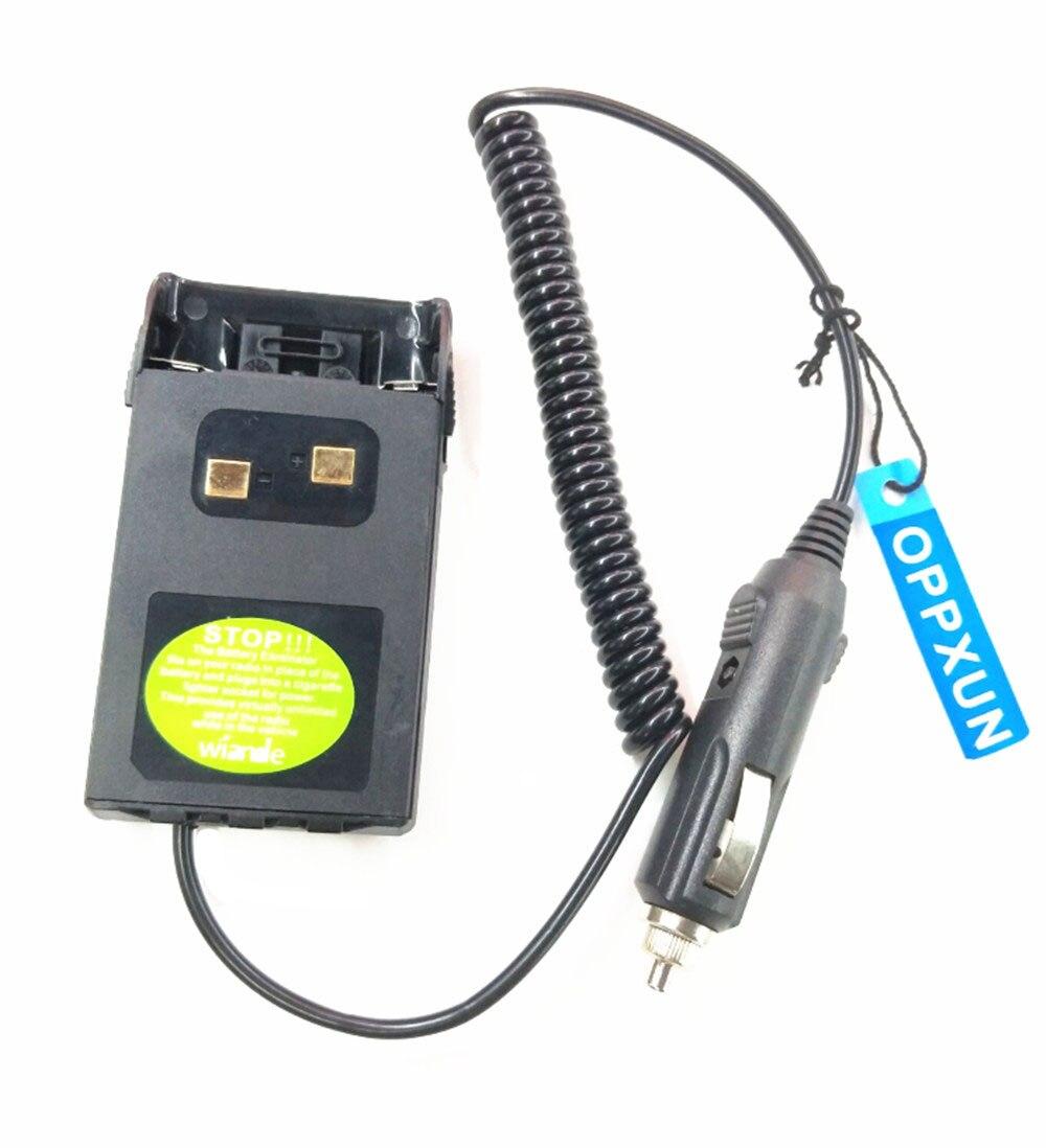 12 V D'électricité Batterie Eliminator Voiture Adaptateur pour Wouxun KG-UVD1P UV-UV6D KG-669 KG-679 Talkie Walkie Accessoires