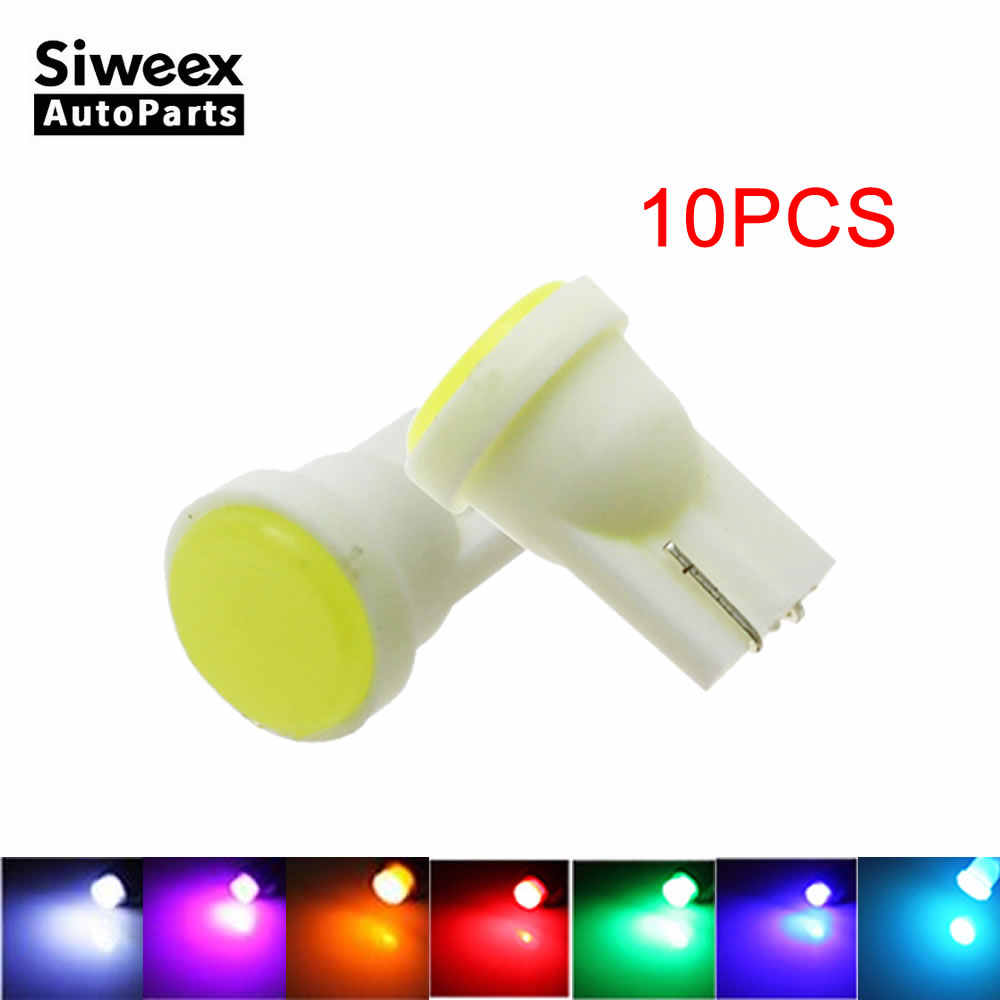 10-Pack T10 LED White Red Blue Green Pink Lights Number Side Marker Door Lamp Light bulbs DC 12V