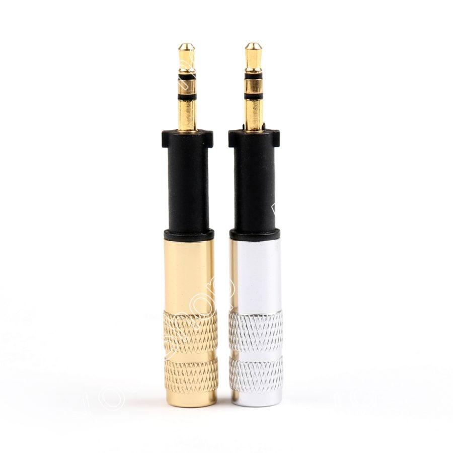Areyourshop Sale 1/10 Set 2.5mm Stereo Plug For AKG K450 K451 K480 Q460 Headphone Gold Silver High Quality