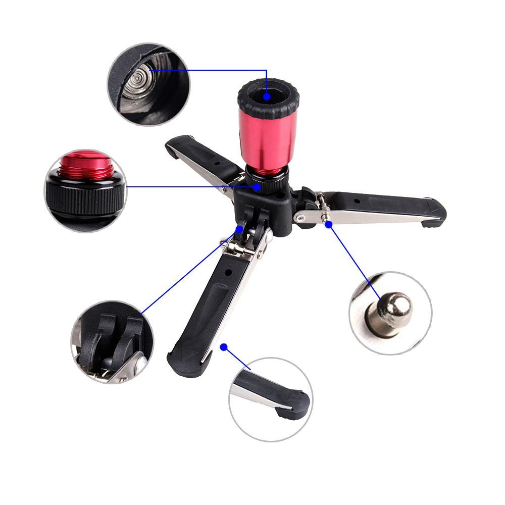 Universal Monopod Three-Legged Supporting Holder with Standard 3/8