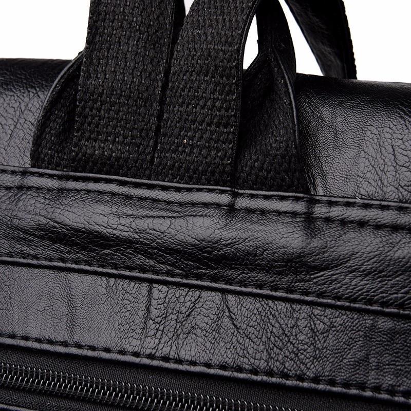 HTB1ZhuQfFzqK1RjSZFoq6zfcXXag 2019 Women Leather Backpacks Female Shoulder Bag Sac A Dos Ladies Bagpack Vintage School Bags For Girls Travel Back Pack New