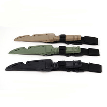Tactical US Army M9 Training Dagger Cosplay Plastics Knife Movie Prop Wargame Hunting Practice Decoration Rubber Knife