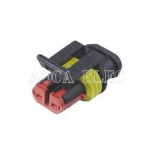 цена на 282080-1 car wire connector 2P female cable connector male  connector terminal block Plug socket seal DJ7021Y-1.8-21