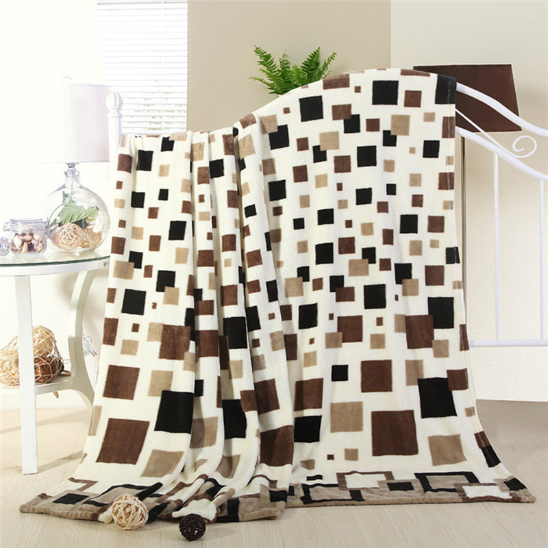 Cheap High quality Hot sale 200x230cm brand plaid Blanket super soft throw fleece blanke ...