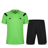 New Soccer Referee Jersey Shorts Football Competition Referee Uniforms Short Sleeve Training Suit Soccer Jersey Shorts