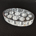 1PCS Oval Clear Acrylic Pigment Cup Cap Rack Permanent Tattoo Ink Cup Holder Stand Tattoo Accessories +15 PCS Cups