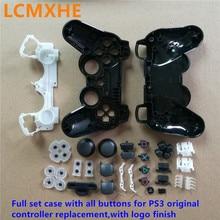 (1 ~ 10 takım) tam set 30in1 gamepadler joystick Konut Case Shell ile tüm Düğmeler kitleri Playstation 3 PS3 orijinal Denetleyici