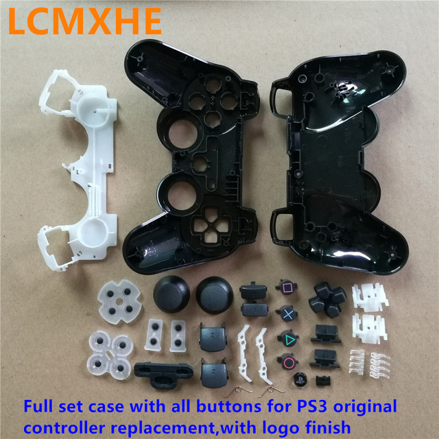 (1~10set) Full set 30in1 gamepads joystick Housing Case Shell with all Buttons kits for Playstaion 3 PS3 original Controller