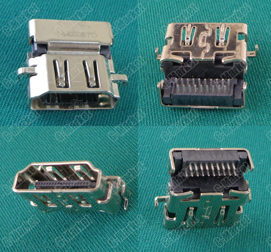 1Piece New Replacement HDMI Female Jack /PCB Socket Connector /19P HDMI Port For Asus Lenovo HP Samsung Etc Laptop Motherboard
