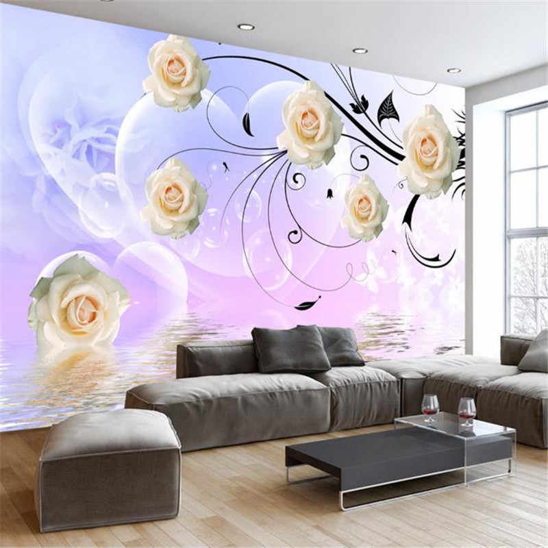 Custom Modern Wallpaper For Walls 3 D Hd Flower Wall Papers Wallpaper Designs For Living Room Bedroom Decor Photo Wall Mural