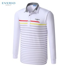 2017 Newest Autumn Striped Long Sleeve Golf Appreal outdoor Men Breathable Golf Shirts high quality Golf Polo Shirts