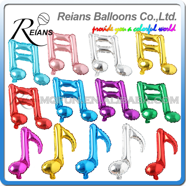 50pcslot 16 Inch Foil Balloon Notes Helium Musical Symbols Balloons