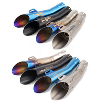 Universal Motorcycle Motorcross Scooter Exhaust Pipe Moto GP Escape Muffler ATV Accessory For KTM Z750 R1 R6 MT03 MT07 Slip on
