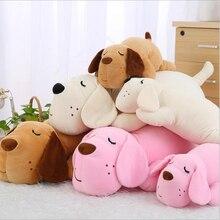 Lovely Sleeping Dog Plush Toy Eiderdown Cotton Stuffed Doll Plush Pillow Children Birthday Gift цена в Москве и Питере