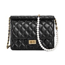 New famous brand women messenger bags small chain crossbody bags female luxury shoulder bag pearl handbag 2019