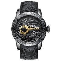 BIDEN Men Watches Top Brand Luxury Fashion Quartz Watch Men 3D Sculpture Dragon Sports Casual Watches Men Relogio Masculino