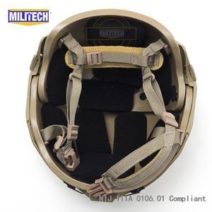 Image 5 - MILITECH M/LG CB NIJ level IIIA 3A Air Frame Aramid Bulletproof Airframe Helmet With Ballistic Test Report 5 Years Warranty