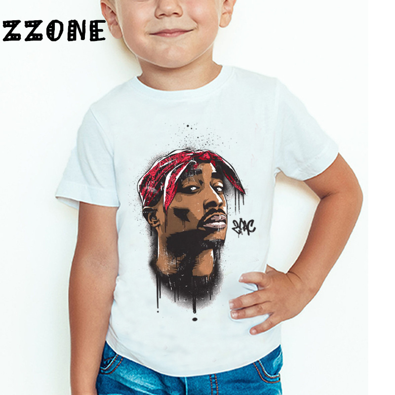 Uşaqlar Tupac 2pac Hip Hop Qaldırma Printli T-shirt Uşaq Körpə - Uşaq geyimləri - Fotoqrafiya 3