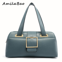 Boston leather bags Model woman bags 2016 bag handbag fashion handbags Purse Women's leather women famous brands ME586