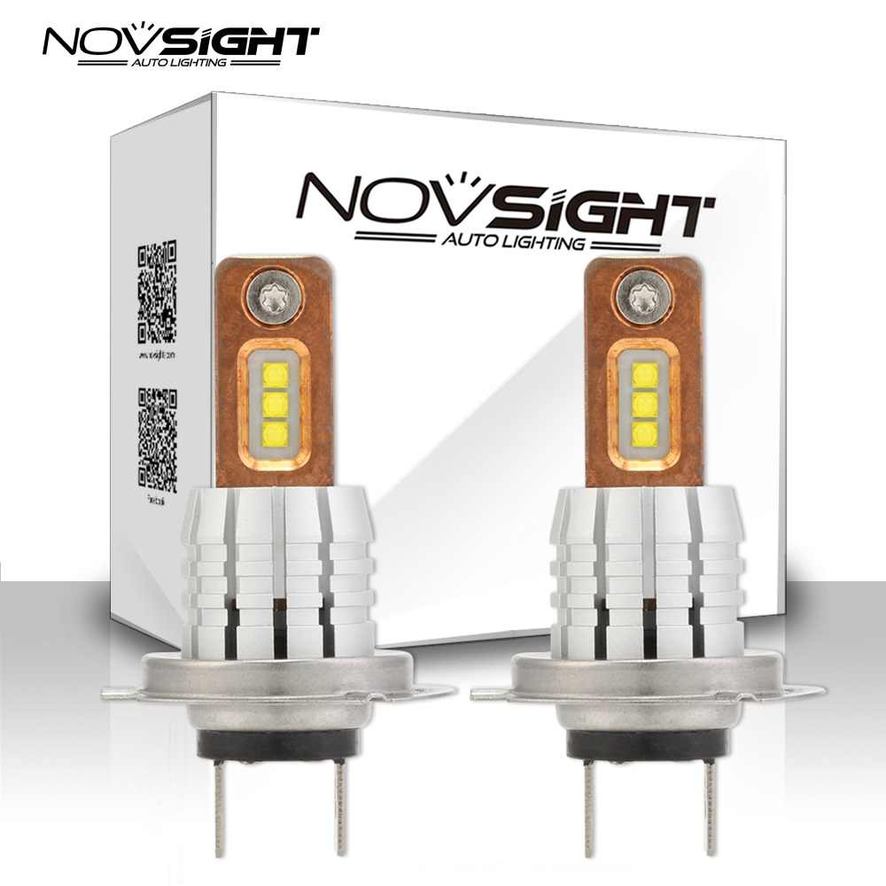 Novsight H11 H8 LED h7 h1 Fog Light Bulbs 9005 HB3 HB4 9006 Car styling Running Lights Auto  Driving Lamp 12V 24V 6000K White