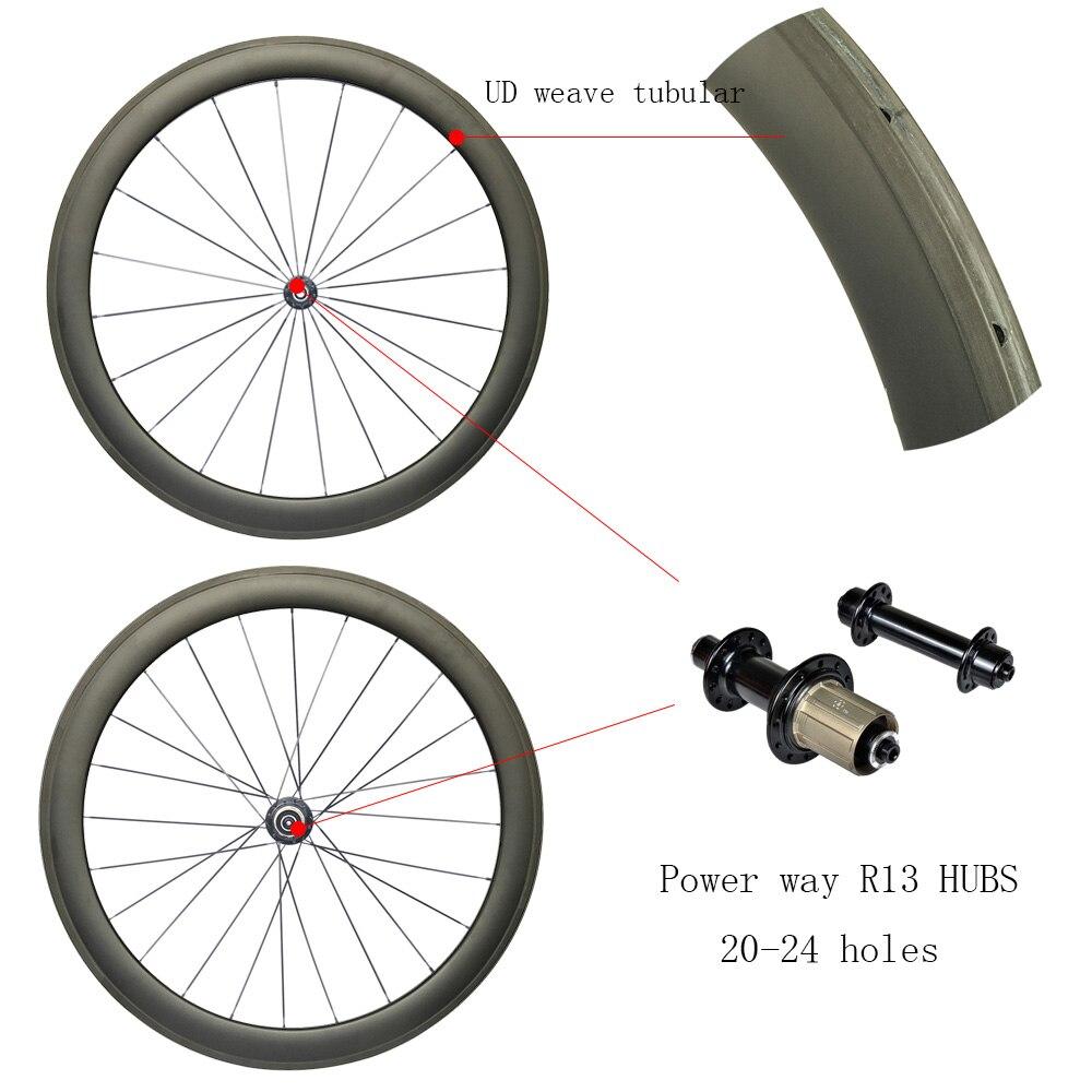 Road Carbon wheels Tubular 50mm with power wayR13/R36 hubs carbon rim 3K/1K weave Road Bike Super Light Racing Wheelset racing wheels h 480 7 0 r16 4x114 3 et40 0 d67 1