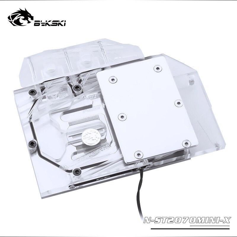 Bykski bloc d'eau utilisation pour ZOTAC RTX2070 8GD6 MINI OC/RTX 2060 ampères/bloc de radiateur en cuivre à couverture complète/3PIN 5V RGB/4PIN 12V RGB