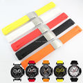 T-RRCE Especialista Preto Silicone rubber Strap Watch band para T048417A T048 21mm