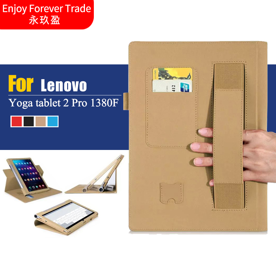hot sale online 327d9 131a3 US $24.88  High quality Case For lenovo yoga 2 pro 1380F leather case cover  For Lenovo Yoga tablet 2 Pro 1380F 13.3 inch Tablet + Hand Hold-in Tablets  ...