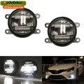 2em1 eeMrke Xenon Branco de Alta Potência LED DRL Nevoeiro Projetor lâmpada Com Lente Luzes de Circulação Diurna Para Renault Laguna 3 2007-2015