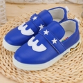 2017 New Children's shoes Kids cartoon oxford shoes flat fashion Girls casual antislip Boys leather shoes Blue Red sneakers 0317