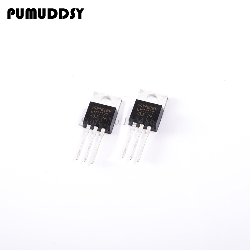 100pc LM1117T-3.3 LM1117T LM1117 Low Dropout Voltage Regulator 3.3v-220 New in Selling IC