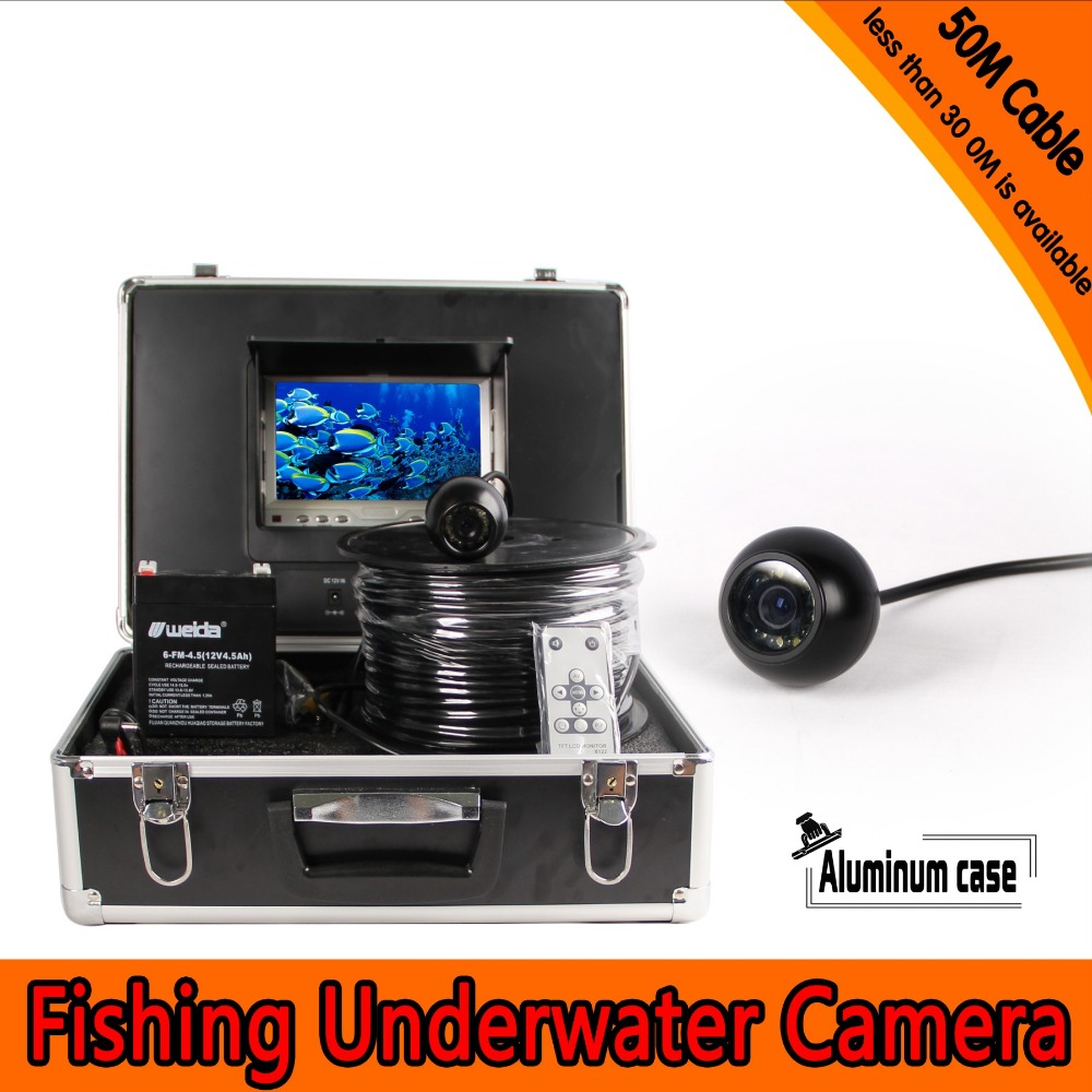 (1 Set)50M Cable Underwater Fishing Camera System HD 7 inch color panel Night version Waterproof Fish Finder Machine|Surveillance Cameras|Security & Protection - title=