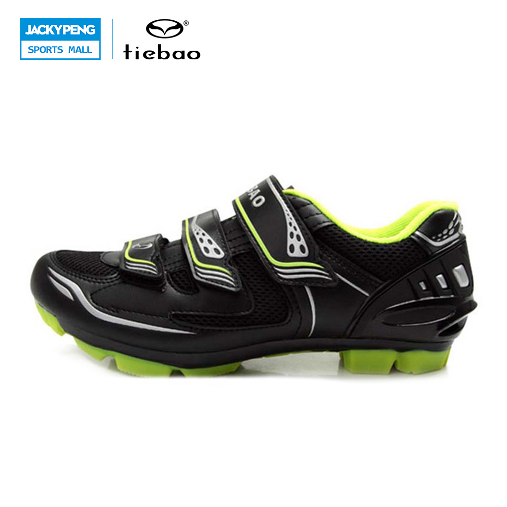 Tiebao Bicycle Green Cycling Shoes For Mountain Bike Racing Athlete Shoes MTB Shoes Athletic Shoe Soles Scarpe Ciclismo Mtb Uomo