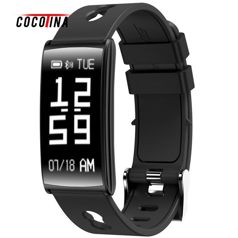 COCOTINA Bluetooth Smart Bracelet Band Heart Rate Blood Pressure Monitor Smart Wristband For IOS Android SWT8490 bluetooth smart wrist watch blood pressure watches bracelet heart rate monitor smart fitness tracker wristband for android ios
