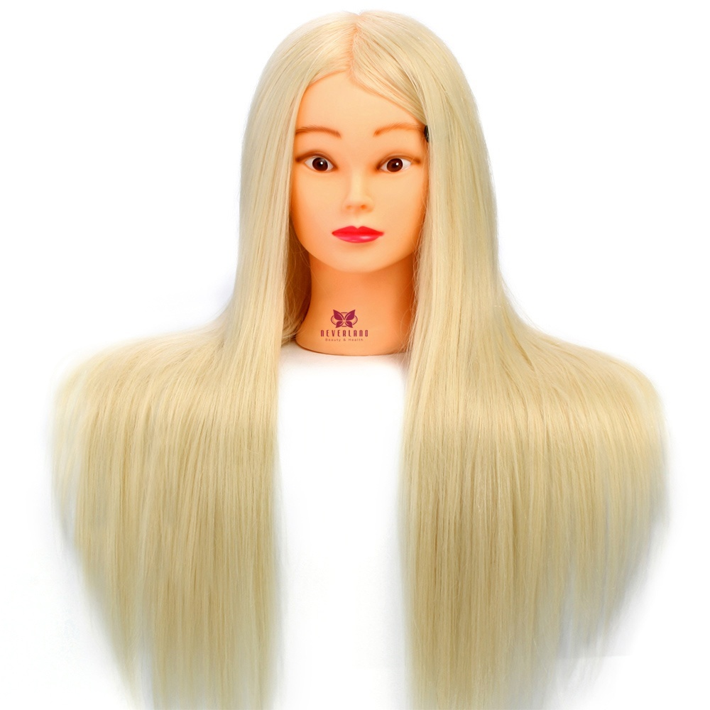"#613 26"" 30% Real Hair Hairdressing Head Doll Mannequin ..."