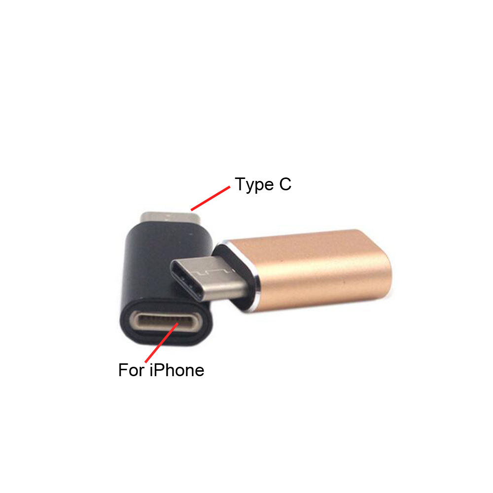 For Apple Female To USB-C Type-C Male Charger Cable Adapter For Samsung S8 Huawei P9 P10 Xiaomi 6 Mix Letv Smart Phone Cable