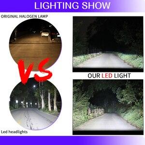 Image 3 - 2 pezzi healihght led h7 h4 led h1 h3 880 h11 9005 9006 5202 9012 9004 9007 h13 h15 car light csp chips auto 6000K led MINI CANBUS