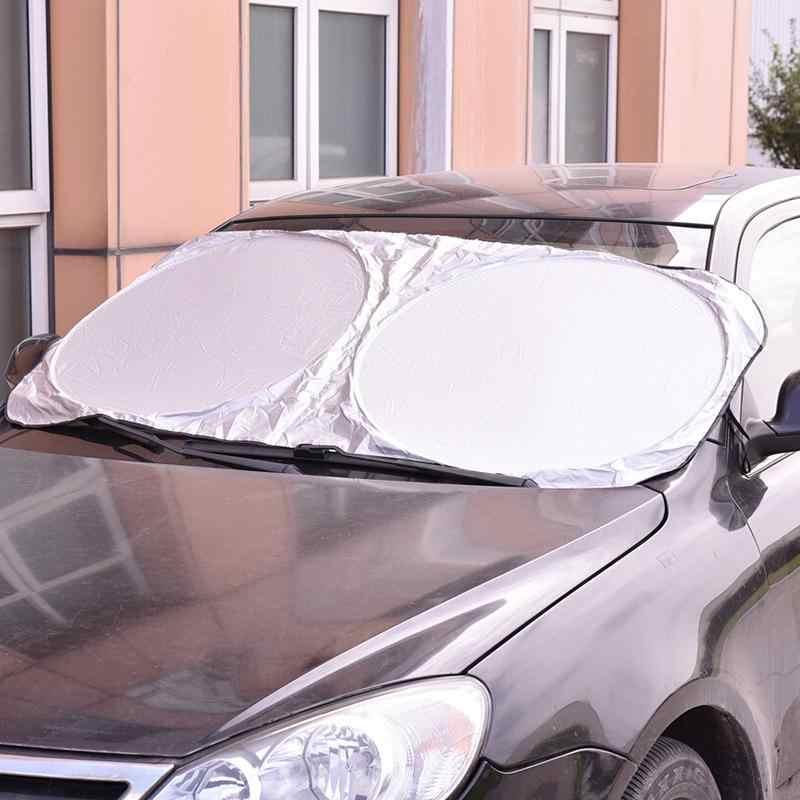 الشمس كتلة غطاء للطي جامبو الجبهة الخلفية نافذة السيارة الشمس الظل UV حماية السيارات شباك الفيلم الساخن السيارات قناع الزجاج الأمامي