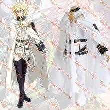 Free shipping Custom made high quality Seraph of the End Owari no Serafu Mikaela Hyakuya Vampire Uniform Cloak Cosplay Costume