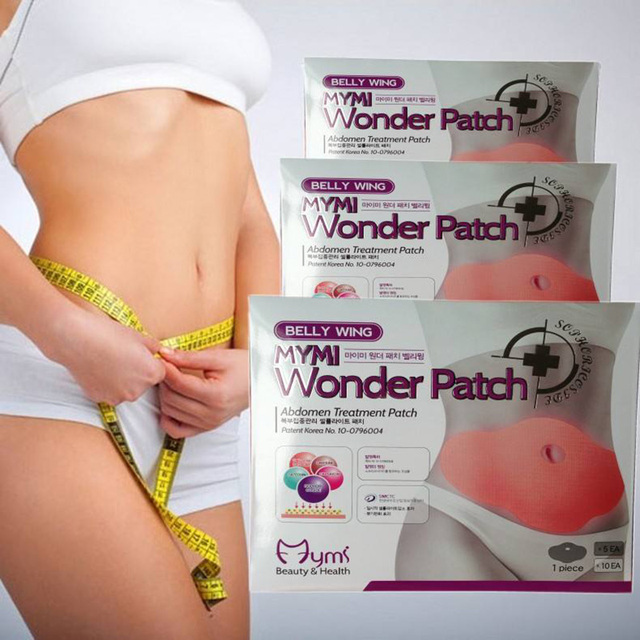 200pcs=20 boxes Hot selling Mymi Wonder Patch Quick Slimming Patch Anti Cellilite Face Lift Tool Belly Slim Patch Fat Burn