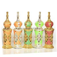 Arabian Palace Building Metal Perfume Bottle Essential Oil Bottle