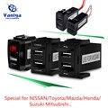 Neue 5 V 2.1A 2 Usb-schnittstelle Buchse Auto Ladegerät Adapter für NISSAN/Toyota/Mazda/Honda/ suzuki/Mitsubishi Power Inverter Converter