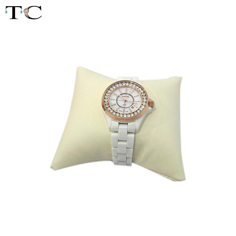 Free Shipping 5 Color Black Beige Leatherette Bracelet Chain Watch Holder Jewelry Display Pillow Cushion
