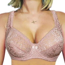 Lager Bosom Lace Perspective Bra For Womens Sexy Lingerie Underwire Embroidery Floral  Bralette Plus Size Brassiere Top