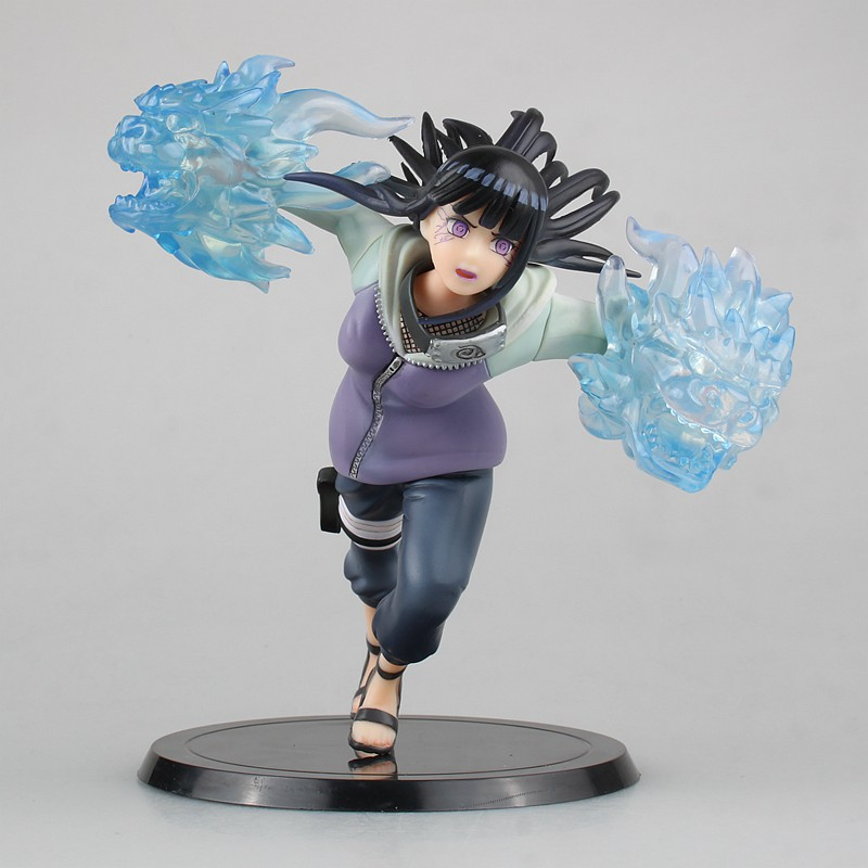 Anime Naruto Gently Step Twin Lions Fist Hinata Hyuga PVC Action Figure Toy Collectibles TSUME XTRA Model Figurals Gift