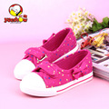YEESHOW Girls Sneakers Canvas Bowtie Shoes For Girls Heart Cute Princess Shoes 3 Colors