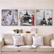 Retro Paris Tower Posters Giclee Print Vintage Home Decorative Nordic Pictures for Bathroom Bar Room Wall Decor Drop Shipping