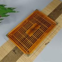 1PCS tea tray 43cmX28cm Horse to the success of tea sets of solid wood Kung Fu tea sets ceramic gift wholesale